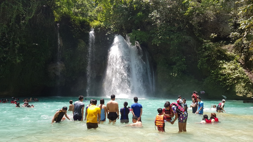 The first level of the Kawasan Falls